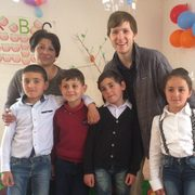 Welna with his fourth grade students