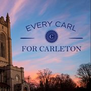 """Exterior image of Skinner Memorial Chapel with text: """"Every Carl For Carleton."""""""