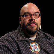 Portrait of Native American pastor and cultural facilitator Jim Bear Jacobs.