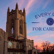 "Exterior shot of Skinner Chapel announcing ""Every Carl For Carleton."""