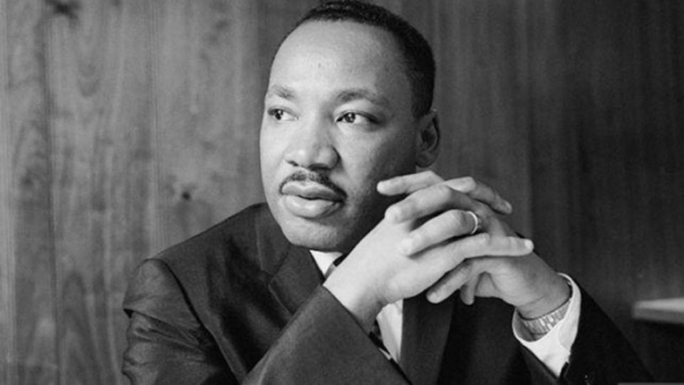 B/W image of Martin Luther King Jr.