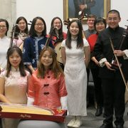 Image of the Chinese Music Ensemble, winter 2019.