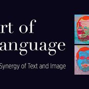 "Logo for the Perlman Museum exhibit, ""Art of Language: The Synergy of Text and Image"""
