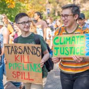 Carls participate in the Youth Climate Strike on Sept. 20, 2019.