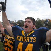 Dylan Gessner celebrates a victory