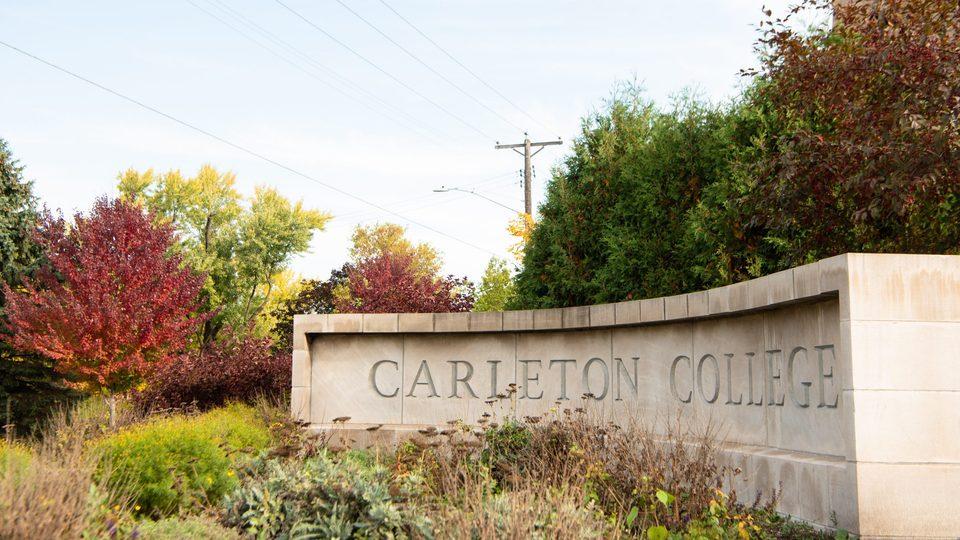Carleton College Sign