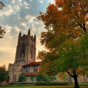 Skinner Chapel in the fall