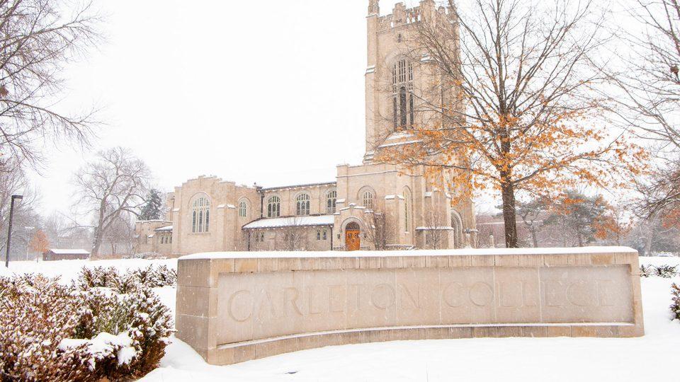 Skinner Chapel in the winter