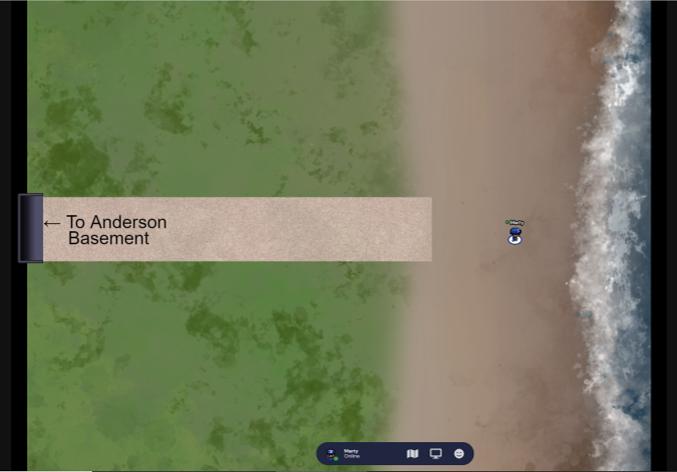 screenshot of the virtual Beach