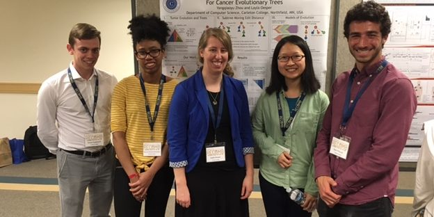 Recomb in 2019. Layla with her student presenters.