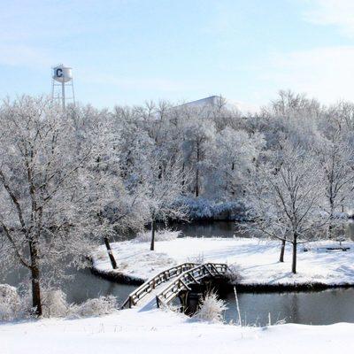 Lyman Lakes in Winter
