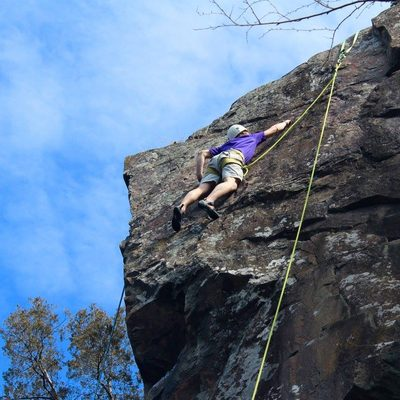 Climbing at Taylor Falls