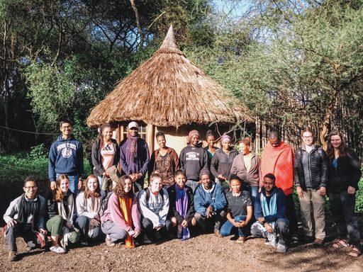 Group photo in Tanzania