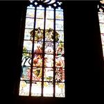 Illuminated stained glass windows