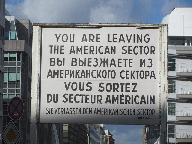 Sign saying