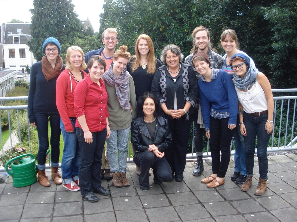 Rosi Braidotti with WGSE students, Utrecht