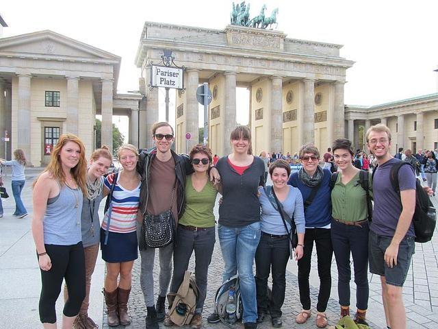 Group at Pariser Platz, Berlin