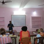 Students learn Hindi in the classroom