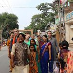 Participants explore the neighborhood