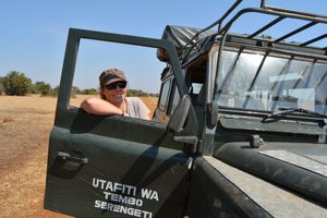 Director Anna Estes in the Serengeti