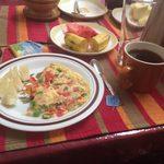 A typical Tanzanian breakfast