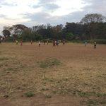 Local neighbors play soccer