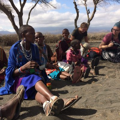 Beading with Maasai Women
