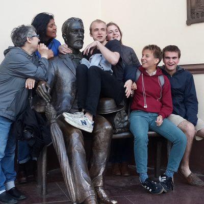 Anna Mikhailovna, Urmila, David, Sonia, Lucy, Anton