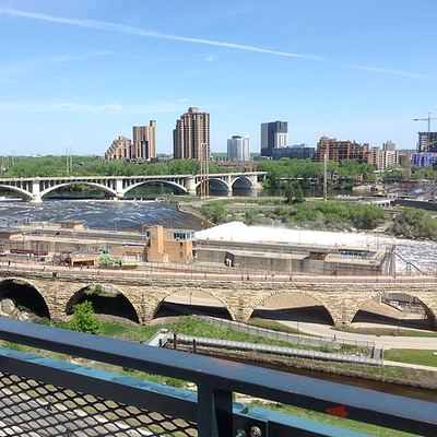 A view of the river and the clear blue sky in St. Paul during the 1955 Mini Reunion, 2019.