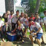 MOSAIC members prepare color bags for Holi