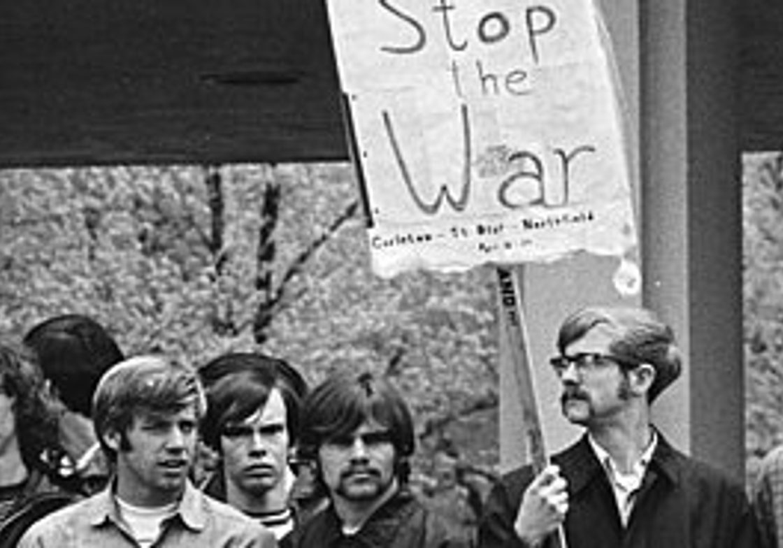 Students protesting the war