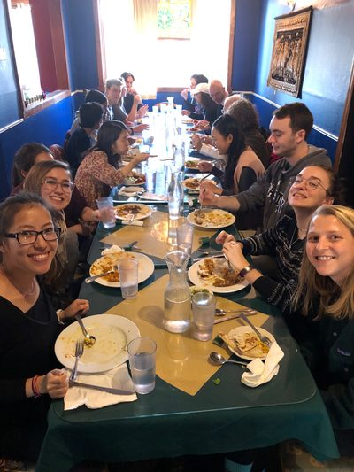 SOAN majors and faculty had lunch at Chaptai this January to welcome everyone back for winter term!