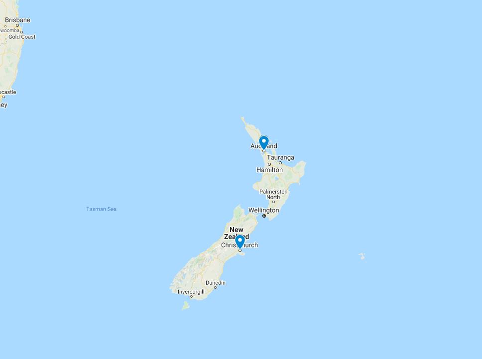 Map: NZ