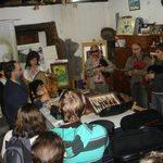 Visita al Taller del Grupo Musical de Melide