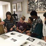 Final critiques in the print class - Winter 2017