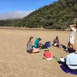 Figure drawing sessions on the beach in Wilson's Promontory - Winter 2017