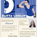 Danya Leebaw's trading card, 2012-2015