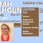 Sarah Calhoun's trading card, 2018-19
