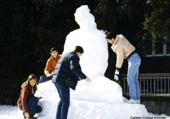 Buddha snow sculpture, 1983.