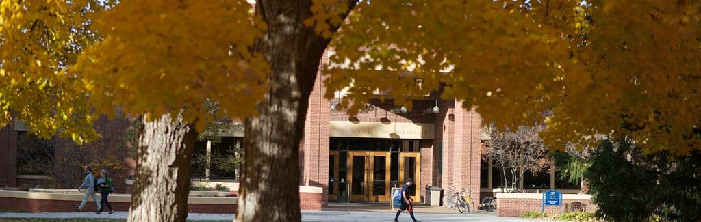 Gould Library in Autumn