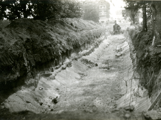 The tunnel that connected Evans Hall to the rest of campus.