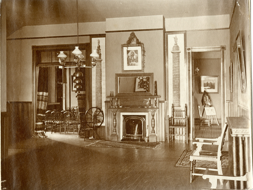 An example of the fireplaces throughout campus during the 1890s