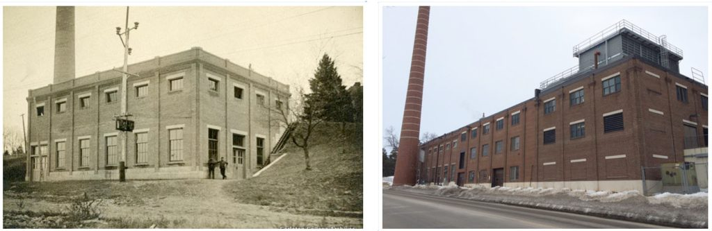 The original steam plant next to the current plant