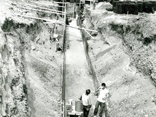 Steam tunnels under construction