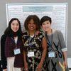 L-R: Rebecca Liu, Professor Cherlon Ussery and Lydia Ding
