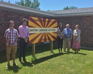 Students and professors at the Dakotah Language Institute