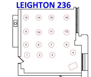 Leighton 236 seating assignment