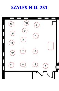 Sayles 251 Seating Assignment
