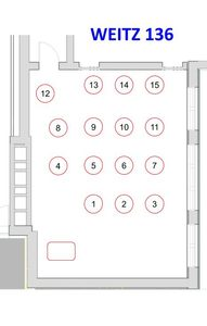 WCC 136 Seating Assignment Layout
