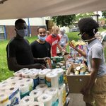 MOC volunteers at a supply drive for communities impacted by racial justice protests, SP20